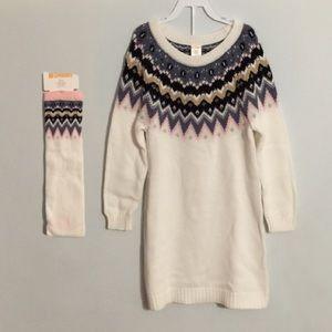 Gymboree Sweater Dress W/ Knee High Socks